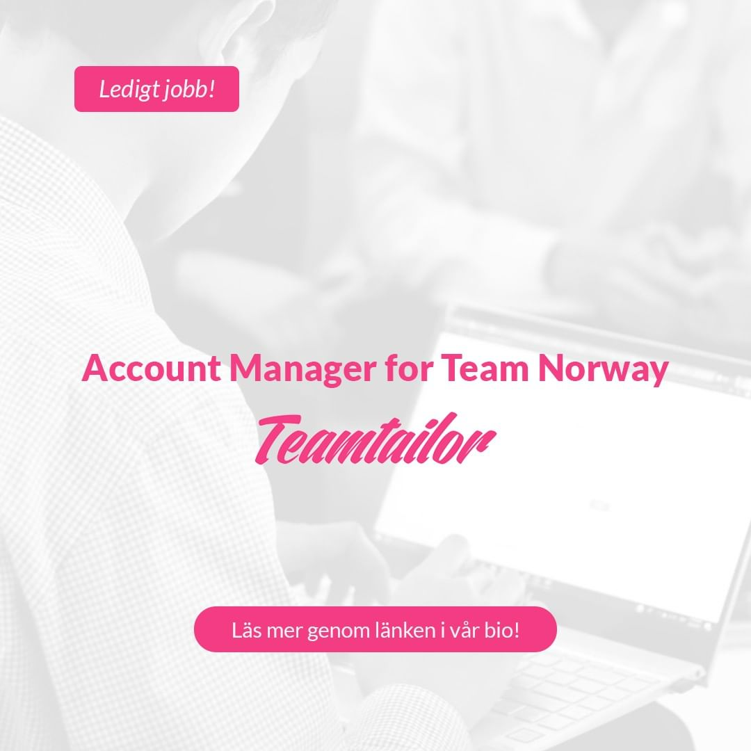 ➡️ Teamtailor is changing the way companies work with employer branding and recruiting. Want to help us make HR heroes? Working at Teamtailor means working at a young, fast moving tech startup with smart people that are passionate about their work. You will be part of Team Norway and our International sales and business development team. You will join a close knitted group to really put Teamtailor on the map. . . . #karriär #ledigtjobb #teamtailor #kraftsam #rekrytering #bemanning #jobbstockholm #jobbistockholm #stockholm #jobb #ledigajobb #försäljning #account #manager #accountmanager #säljjobb #försäljningsjobb